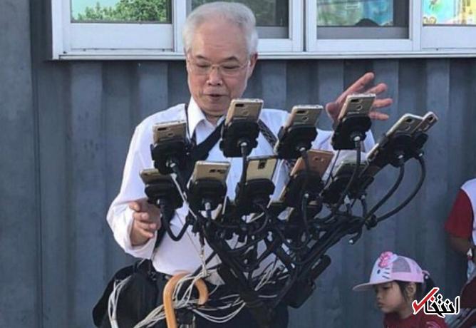 پیرمرد 70 ساله تایوانی رکورد شکنی کرد ، انجام بازی پوکمون گو در 11 گوشی همزمان