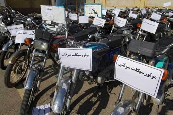 دستگیری باند سارقان موتورسیکلت در چترود کرمان
