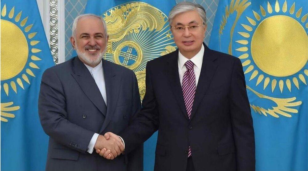 ظریف با رئیس جمهور قزاقستان ملاقات کرد، عکس