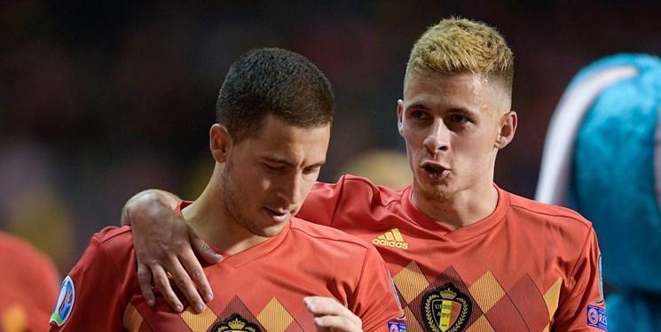 بلژیک با برد پرگل مقابل روسیه به عنوان تیم اول صعود کرد