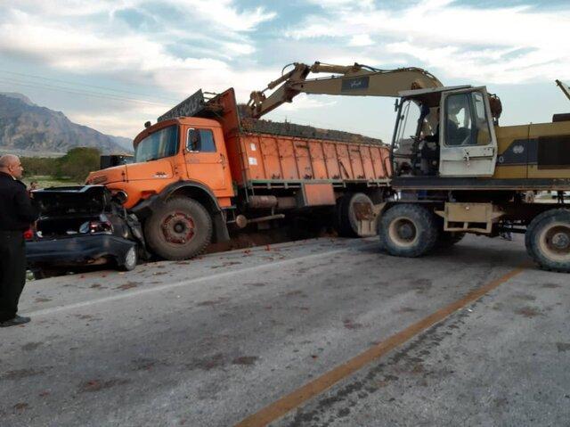 5 کشته در برخورد مرگبار پراید و کامیون