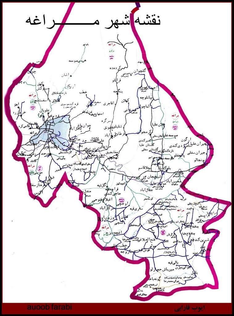 تاریخچه و نقشه جامع شهر مراغه در ویکی خبرنگاران