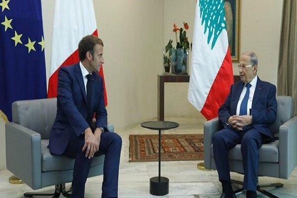 عون و ماکرون درباره تشکیل دولت جدید لبنان رایزنی کردند