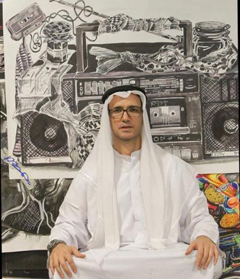 محمدرضا فروتن در لباس عربی!