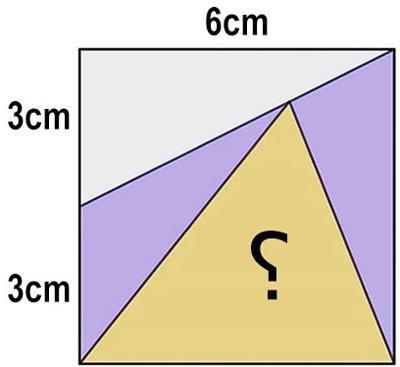 معمای مساحت مثلث مجهول را بیابید