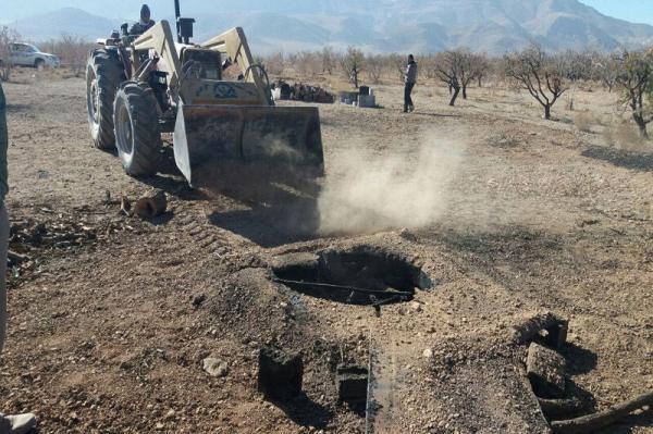 خبرنگاران چاه های غیرمجاز مسدودی در مهاباد به 63 حلقه رسید