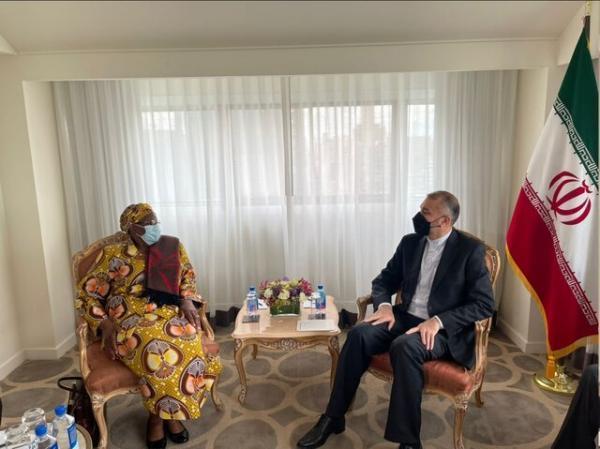 دعوت امیرعبداللهیان از وزیر خارجه نامبیا برای سفر به ایران